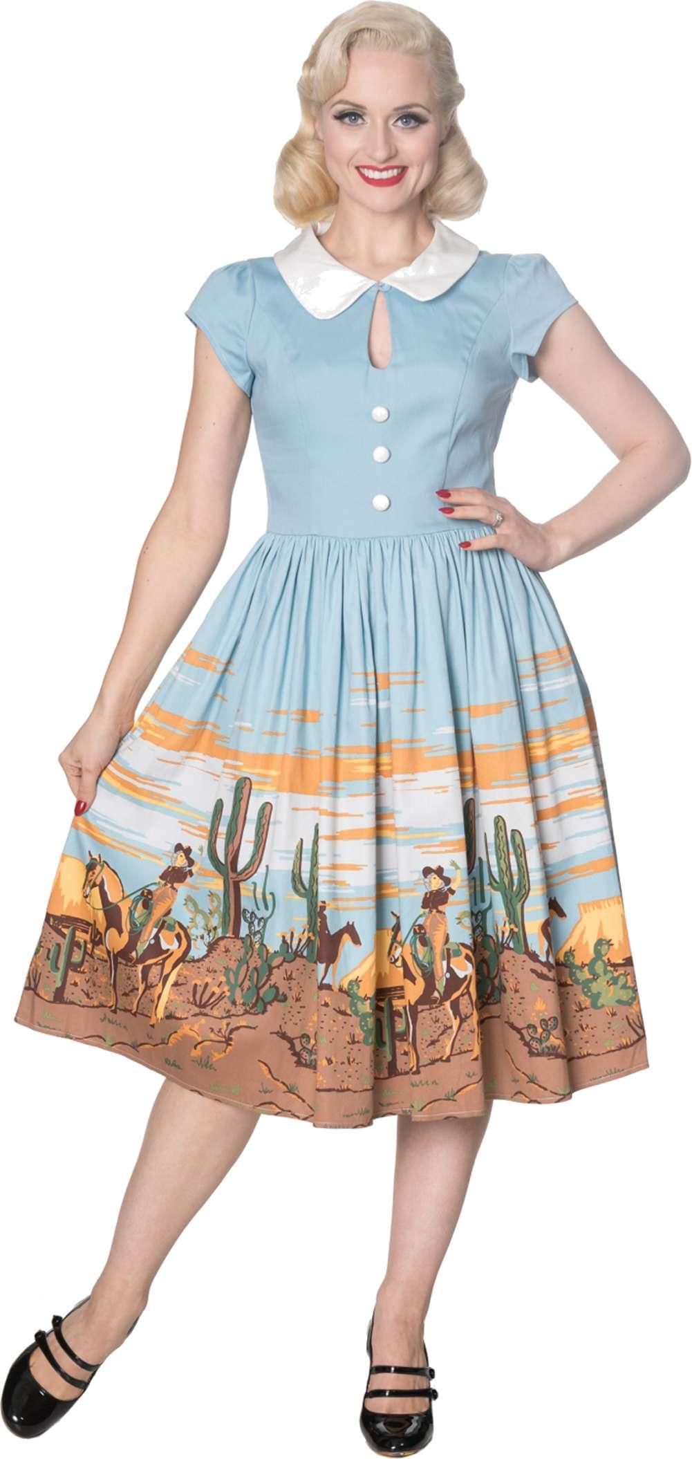 dancing days magical western cowboy vintage retro dress kleid
