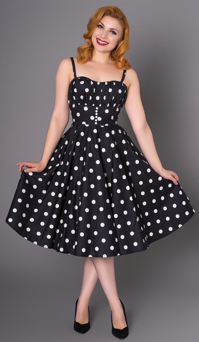 39c1731eb3af5b Sheen BONNIE Vintage POLKA DOT Punkte Träger 50s Retro SWING Kleid  Rockabilly | Killer Kirsche - Onlineshop für Rockabilly & Vintage Mode