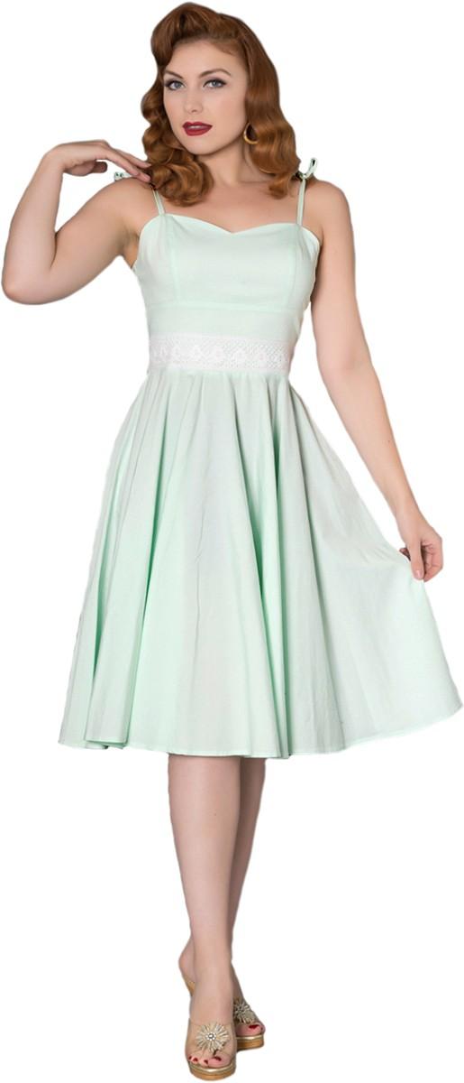 c3e9714eaeca40 Sheen MEGAN Vintage FLORAL CROCHET Träger SWING Dress Kleid Rockabilly |  Killer Kirsche - Onlineshop für Rockabilly & Vintage Mode